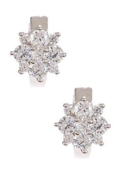 HauteLook | All About Earrings: Ava Crystal Flower Mini Hoop Earrings