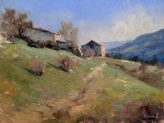 Pascal Giroud - Village du Vieux Noyer - Huile sur Panneau - 20 x 25 cm