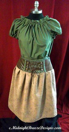 Ladies Steampunk  Neo Victorian Dress  by midnightbreezedesign, $75.00