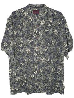 Tommy Bahama Floral Pho Silk Camp Shirt (Color: Black, Size L)