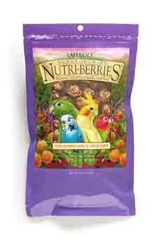 Nutri Berries Sunny Orchard Parakeet Bird Treats 10oz, Lafeber -  Lafeber's Sunny Orchard Nutri-Berries for parakeet and cockatiels is a nutritious gourmet food formulated by avian nutritionists to meet your bird's dietary needs. Sunny Orchard Nutri-Berries offer high quality ingredients such as apricots, cranberries, raisins, corn, peanuts, egg and millet to name a few.