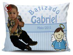 Almofada Personalizada para Batizado - modelo 10 (Pano e Arte)