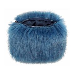 Petrol Faux Fur Coin Purse ($32) ❤ liked on Polyvore featuring bags, wallets, mini coin purse, coin pouch wallet, coin purse wallets, change purse and faux fur bag