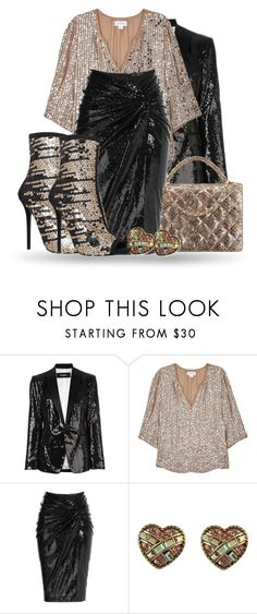 """""""Sequined set"""" by lorika-borika on Polyvore featuring мода, Dsquared2, Velvet by Graham & Spencer, Donna Karan, Betsey Johnson и Carvela"""