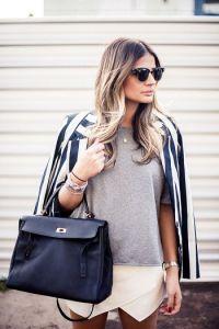Stripes #Skort #Outfit