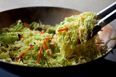 Spicy Stir-Fried Cabbage: View this and hundreds of other vegetarian recipes in the @nytimes Eat Well Recipe Finder.