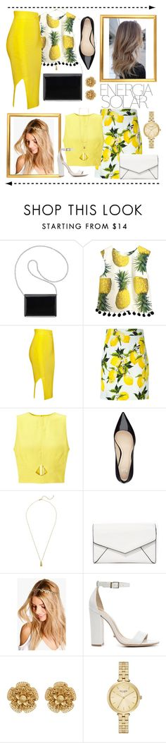"""Yellow combos"" by yessyzc ❤ liked on Polyvore featuring Magdalena, Nine West, Dolce&Gabbana, Miss Selfridge, Estella Bartlett, LULUS, Boohoo, Schutz, Miriam Haskell and Kate Spade"