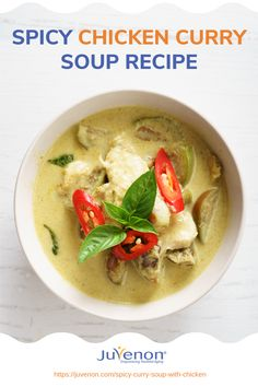 This chicken curry soup recipe shows healthy meals can be absolutely delicious. Here's how to make this bowl of nutritious goodness. Thai Chicken Curry Soup, Spicy Chicken Curry Recipes, Healthy Meals, Healthy Recipes, Curry Paste, Soup Recipes, Kitchen Corner, Healthy Aging, Alternative Medicine