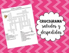 75 best greetings and farewells images on pinterest spanish a fun assessment in which students complete a crossword puzzle using greetings and farewells in spanish m4hsunfo