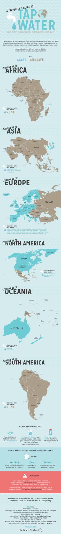 「この国の水道水は飲めるか?」を示すインフォグラフィック | ライフハッカー[日本版]