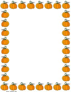 Pumpkins Border Paper Free Printable Halloween