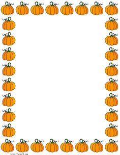 halloween cute pumpkins border paper, Free printable halloween paper border