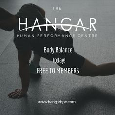 Mobility & Body Balance TODAY at 10 - 10:40 am with Coach Matt. Download our App for the full Hangar timetable. Free to members or £5 public
