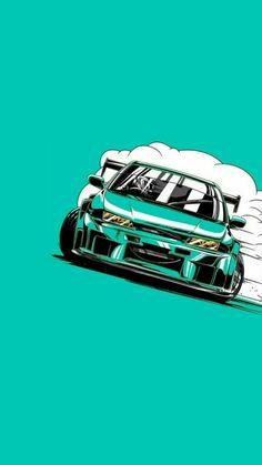 Jdm Wallpaper, Sports Car Wallpaper, Mobile Wallpaper, Street Racing Cars, Drifting Cars, Car Illustration, Tuner Cars, Japan Cars, Car Posters