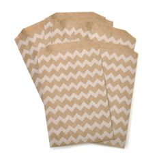 Medium Chevron Kraft Bag - bags with design for trail mix bar