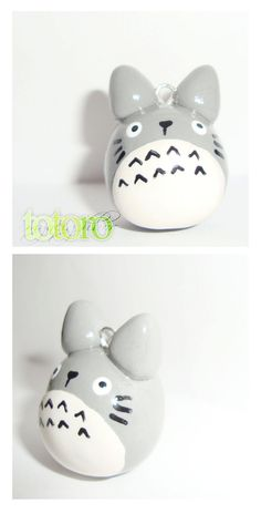 Totoro polymer clay charm cute kawaii animal by cutieexplosion, $8.75