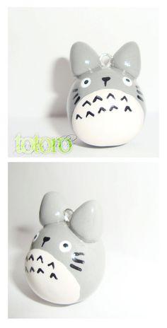 Totoro polymer clay charm cute kawaii animal by cutieexplosion, $8.75