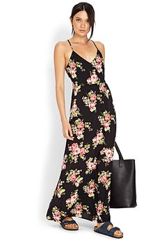 Cutout Rose Maxi Dress | FOREVER 21 - cute but with different shoes