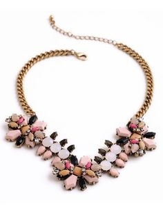 Pink Neutral Statement Necklace