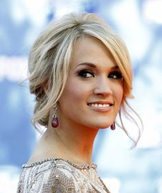 Romantic Updo with Veil | Carrie Underwood Messy Updo Hairstyles 2012