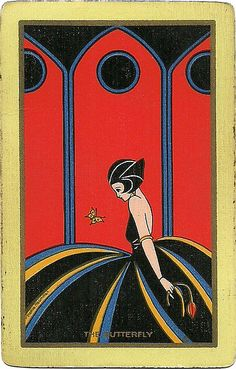 vintage playing card - the butterfly by Millie Motts, via Flickr