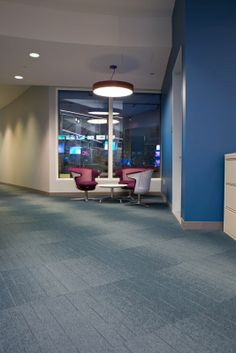 Consolidated Carpet Installation at CNN New York, featuring @Mohawk Group #LeesCarpet