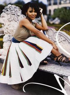 Meagan Good.  I think that is she's beautiful and I love her skirt.