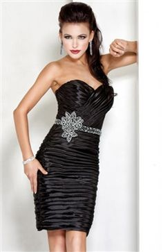 Sweetheart Beaded Belt All-over Ruched Bodycon Cocktail Dress Style Code: 14327 $157.00 Order Here: http://www.outerinner.com/sweetheart-beaded-belt-all-over-ruched-bodycon-cocktail-dress-pd-14327-11.html#outerinner