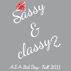 Alpha Sigma Alpha, Sorority, Bid Day Design, T-Shirt  *All designs can be customized for your organization or chapter's needs!