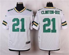 Nike Green Bay Packers  21 Ha Ha Clinton-Dix White Elite Jersey e96482f67