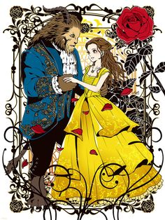 Exclusive: Be Our Guest: An Art Tribute to Disney's Beauty and the Beast Is Coming to Gallery Nucleus Disney Pixar, Art Disney, Film Disney, Disney Belle, Disney Images, Disney And Dreamworks, Disney Cartoons, Disney Animation, Disney Love