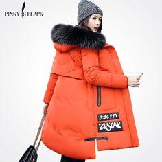 Pinky Is Black 2017 Autumn Winter Jacket Women Cotton Jacket S-3XL Winter Coat Women Thicken Warm Parka Female Hooded Outwear