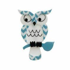 Owl Jewelry, Cute Jewelry, Resin Jewelry, Jewellery, Bird Design, Bird Art, Blue Bird, Art Deco, Kitty