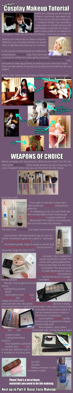 Cosplay Makeup Tutorial Part I by ~the-sushi-monster on deviantART