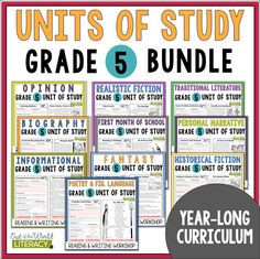 These units provide teachers with EVERYTHING they need to successfully teach both reading workshop and writing workshop for the ENTIRE year of school!!