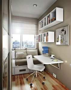 Mens bedroom designs small space bedroom small bedroom design ideas for men mens bedroom ideas for Small Bedroom Office, Small Apartment Bedrooms, Small Bedroom Storage, Small Space Bedroom, Small Master Bedroom, Apartment Bedroom Decor, Small Rooms, Small Apartments, Small Spaces