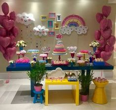 Hello Kitty Birthday, Little Girl Birthday, Unicorn Birthday, Unicorn Party, Baby Birthday, Birthday Parties, Girl Parties, Baby Party, Baby Shower Parties
