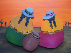CREACIONES DE SILVIA: Coyitas de ELENA!!!!! Oil Pastel Paintings, Easy Paintings, Pottery Painting, Fabric Painting, Paint Garden Pots, Mexican Paintings, Peruvian Art, Latino Art, Murals For Kids