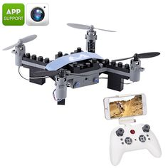 SMRC Blocks DIY Drone - FPV Camera, 6 Axis Gyro, Android + iOS App, Headless Mode, Flip - SMRC Blocks DIY Drone come unassembled and is the perfect hobby toy for young and old drone enthusiasts. Drones, Drone Quadcopter, Build Your Own Drone, Mode 3d, Micro Drone, Remote Control Drone, Drone For Sale, Sports Camera, Best Smartphone
