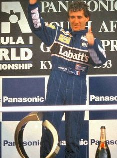 Alain PROST - 1993 Rd.1 South African Prix Alain Prost, F1 Drivers, F 1, Vintage Racing, Champion, African, Baseball Cards, Sports, Ayrton Senna