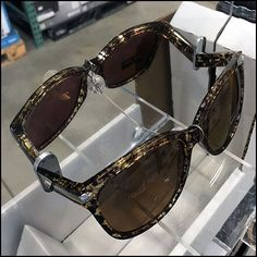 This Kirkland Signature Branded Sunglass Try-Me Mirror puts a sample from the eyewear display at hand for trial. Some sunglass styles have instant appeal My Mirror, Mirrors, Retail Merchandising, Eyewear, Sunglasses, Style, Fashion, Swag, Moda