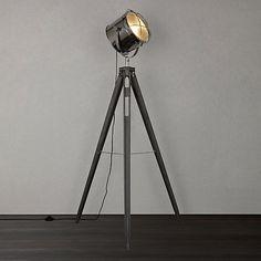 Buy John Lewis Jules Wood Marine Head Floor Lamp, Grey Online at johnlewis.com