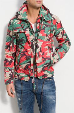 Dsquared2 Camouflage Hooded Jacket