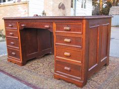 Victorian desk (1800s) - looks like cherry...