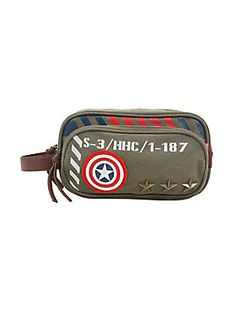 Because a well-groomed superhero is everything // Marvel Captain America Army Toiletry Bag