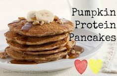 Pumpkin Protein Pancakes - 21 Day Fix Recipes - Clean Eating Recipes Breakfast…
