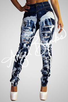 We are making more of this item, be patient. Sexy Outfits, Casual Outfits, Cute Outfits, Fashion Outfits, Womens Ripped Jeans, Sexy Jeans, Denim Fashion, Girl Fashion, Womens Fashion