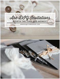 18 best weddings images on pinterest bridal invitations are diy wedding invitations worth it stopboris Image collections