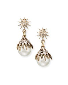 Electra+Pearly+Crystal+Ball+Drop+Earrings+by+Lulu+Frost+at+Neiman+Marcus.