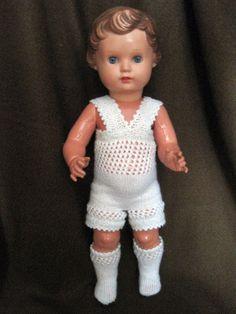 Alte Schildkröt Puppe Ursel 49 Glasaugen Celluloid Puppenkleidung Unterwäsche | eBay